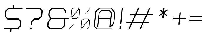 Nostromo Oblique Light Font OTHER CHARS