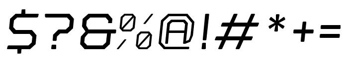 Nostromo Oblique Medium Font OTHER CHARS