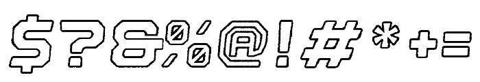 Nostromo Outline Black Oblique Rough Font OTHER CHARS