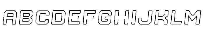 Nostromo Outline Black Oblique Rough Font LOWERCASE