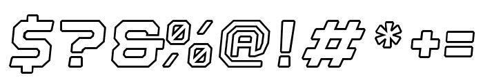 Nostromo Outline Black Oblique Font OTHER CHARS