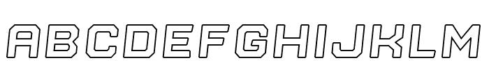 Nostromo Outline Black Oblique Font UPPERCASE