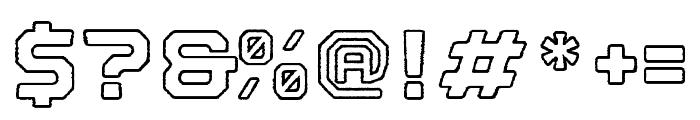 Nostromo Outline Black Rough Font OTHER CHARS