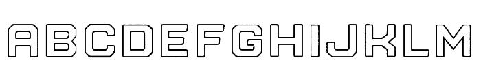 Nostromo Outline Black Rough Font LOWERCASE