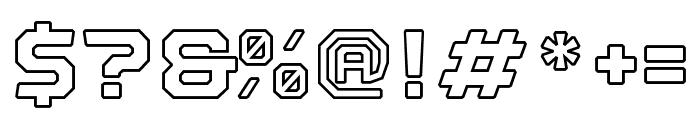 Nostromo Outline Black Font OTHER CHARS