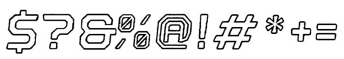 Nostromo Outline Bold Oblique Rough Font OTHER CHARS