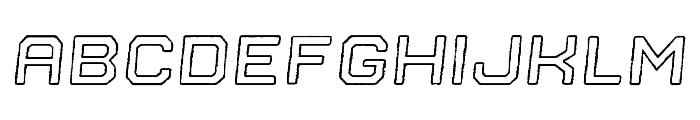 Nostromo Outline Bold Oblique Rough Font LOWERCASE