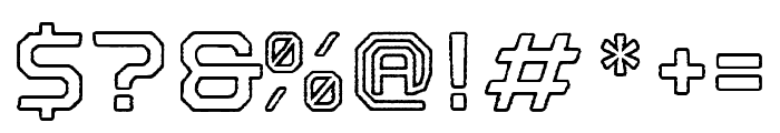 Nostromo Outline Bold Rough Font OTHER CHARS