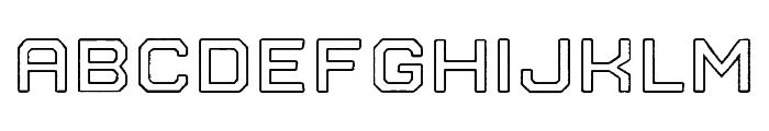 Nostromo Outline Bold Rough Font LOWERCASE