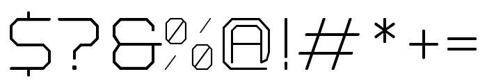Nostromo Regular Light Font OTHER CHARS