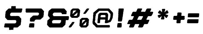 Nostromo Rough Black Oblique Font OTHER CHARS