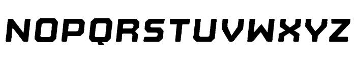 Nostromo Rough Black Oblique Font UPPERCASE