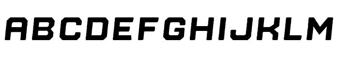 Nostromo Rough Black Oblique Font LOWERCASE