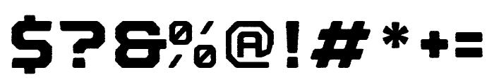 Nostromo Rough Black Font OTHER CHARS