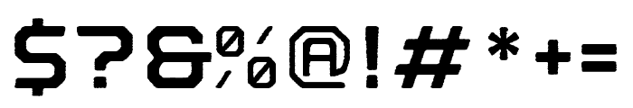 Nostromo Rough Bold Font OTHER CHARS