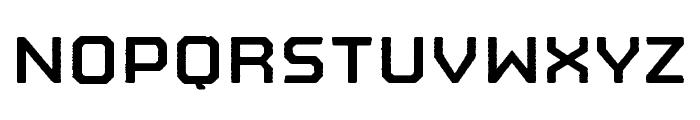 Nostromo Rough Bold Font UPPERCASE