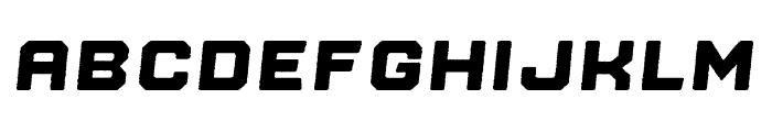 Nostromo Rough Heavy Oblique Font UPPERCASE