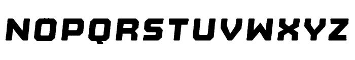 Nostromo Rough Heavy Oblique Font LOWERCASE
