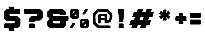 Nostromo Rough Heavy Font OTHER CHARS