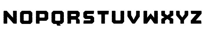 Nostromo Rough Heavy Font UPPERCASE