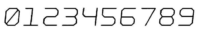 Nostromo Rough Light Oblique Font OTHER CHARS
