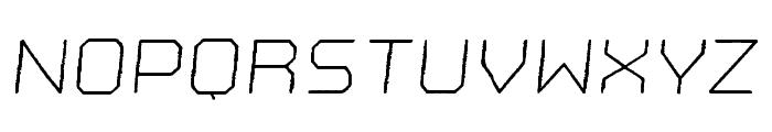 Nostromo Rough Light Oblique Font UPPERCASE