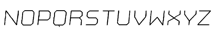 Nostromo Rough Light Oblique Font LOWERCASE