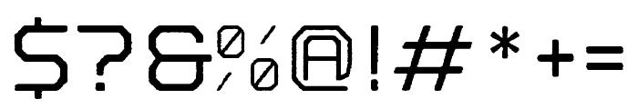 Nostromo Rough Medium Font OTHER CHARS