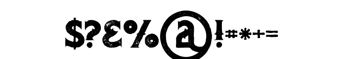 Octopus Grunge Font OTHER CHARS