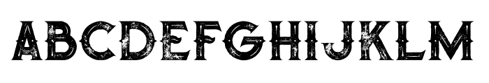 Octopus Inline Grunge Font LOWERCASE