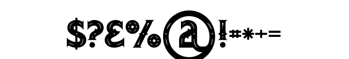 Octopus Inline Font OTHER CHARS