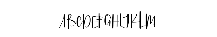 PellonyKindScript Font UPPERCASE