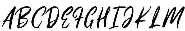 Pinkalova Font UPPERCASE