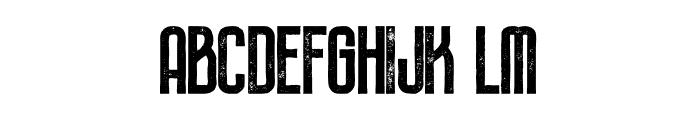 Plasma Bold Grunge Font LOWERCASE
