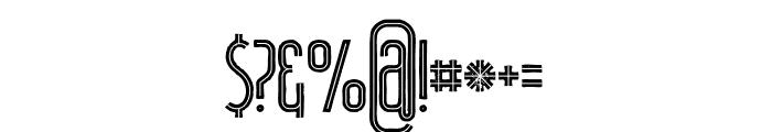 Plasma Inline Grunge Font OTHER CHARS