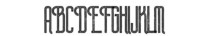 Plasma Inline Grunge Font UPPERCASE