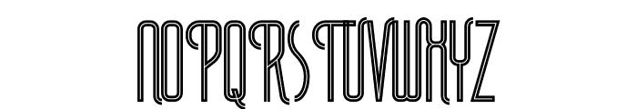 Plasma Inline Font UPPERCASE