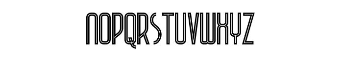 Plasma Inline Font LOWERCASE