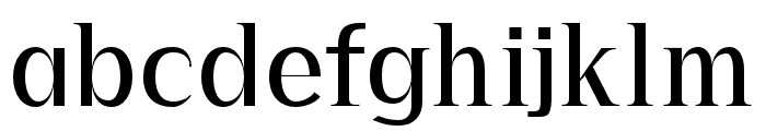 Precious regular Font LOWERCASE