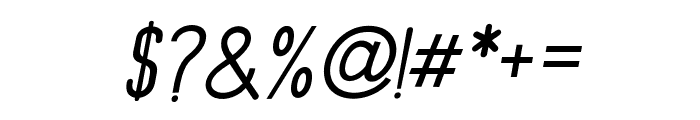 PrincellaSansSlant-Italic Font OTHER CHARS