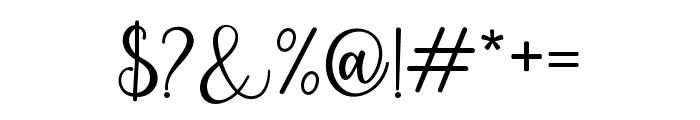 PruistinScript Font OTHER CHARS