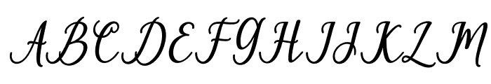 PruistinScriptIt Font UPPERCASE