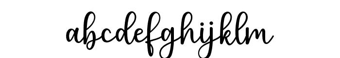 PruistinScript Font LOWERCASE