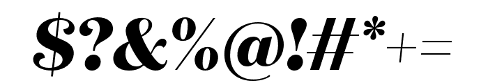 Quiche Flare ExtraBold Italic Font OTHER CHARS