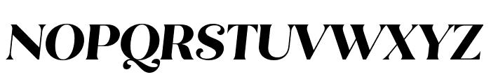 Quiche Flare ExtraBold Italic Font UPPERCASE