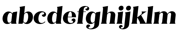 Quiche Flare ExtraBold Italic Font LOWERCASE