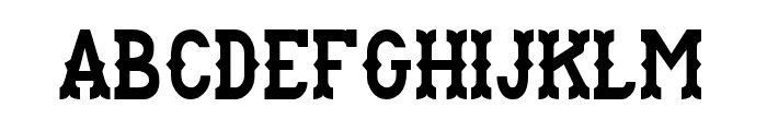 Rancho Font UPPERCASE