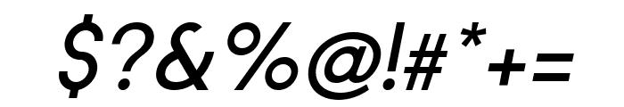 Regime Medium Oblique Font OTHER CHARS