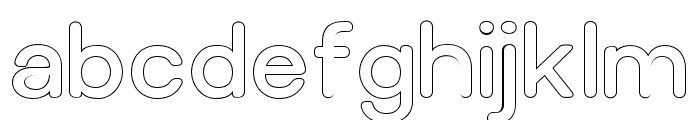 Relica Rounded Outline Font LOWERCASE