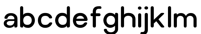 Relica Rounded Regular Font LOWERCASE